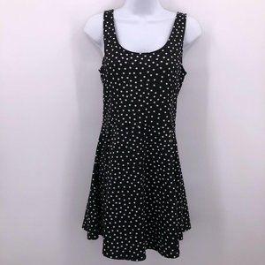 H&M Divided Sz 10 Black White Polka Dot Dress